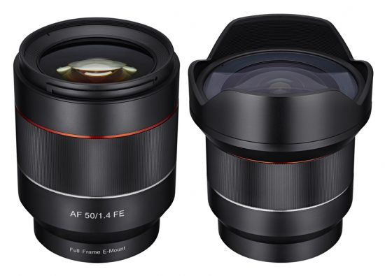 Samyang-4mm-f2.8-50mm-f1.4-AF-lenses-for-Sony-E-mount-550x395