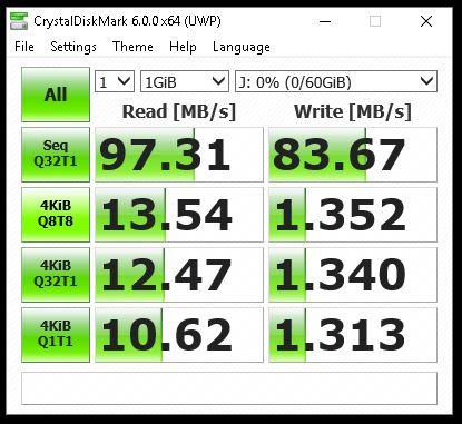 Kingston SDXC - CrystalMark