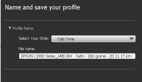 Stil profil BW - Cold