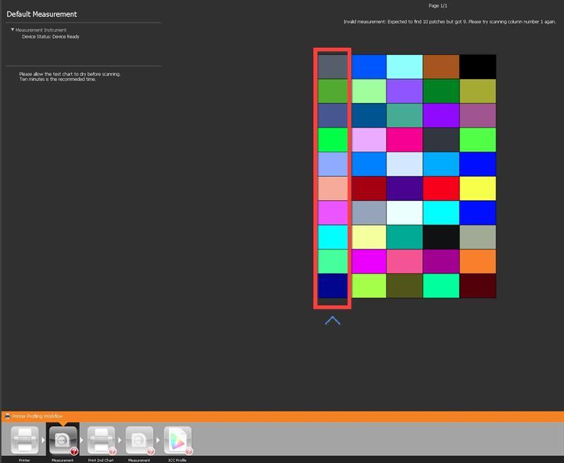 masurare culori primul chart