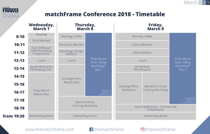 Program matchFRAME 2018 2