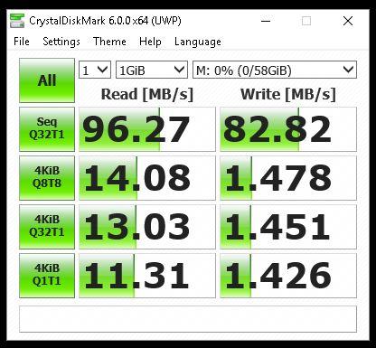 Kingston microSDXC - CrystalMark
