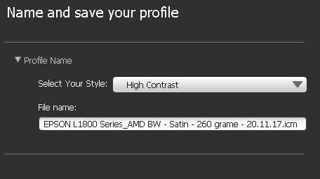 Stil profil BW - High Contrast