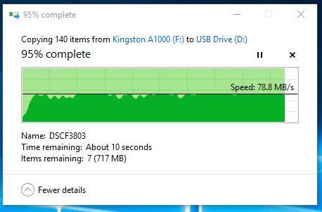 Kingston Canvas GO microSDXC transfer final