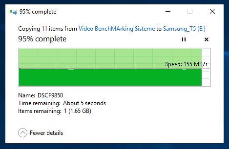 Scriere - 970 Pro pe T1 1 TB
