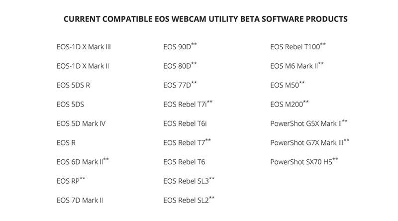 Canon EOS WebCam Utility - 0