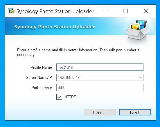 Configurare Profil Upload Windows